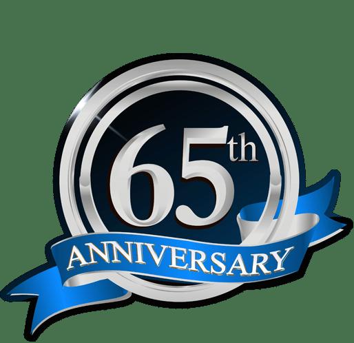 65 Years Anniversay Badge