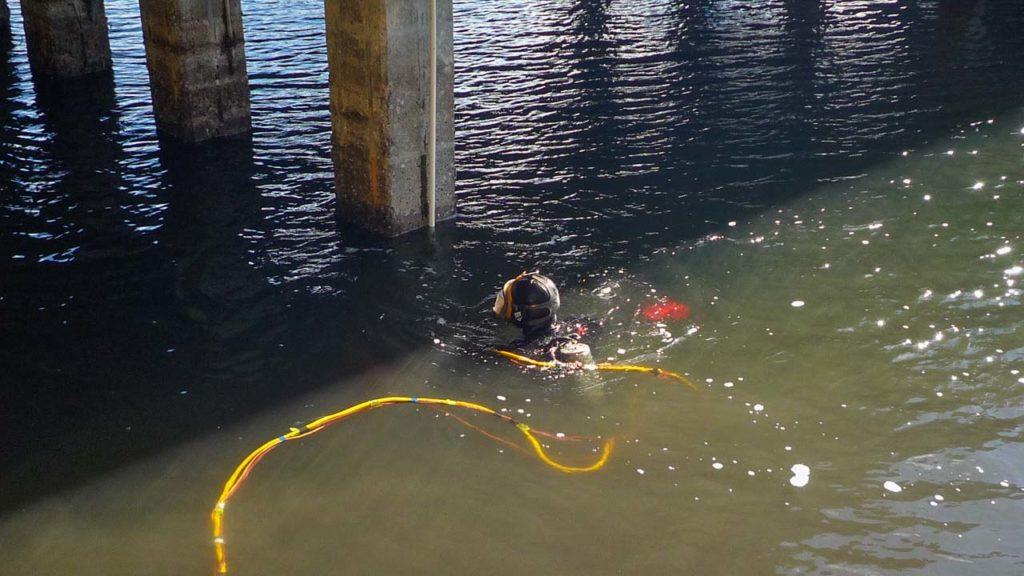 Bridge Underwater Cable Installation