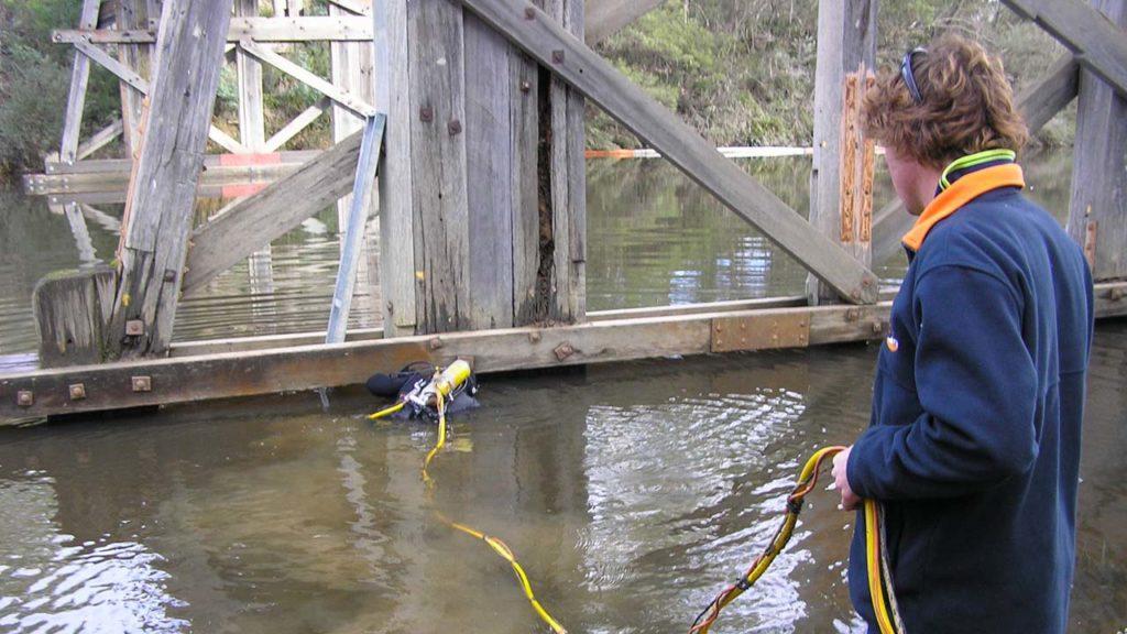 Bridge Underwater Footing Inspection