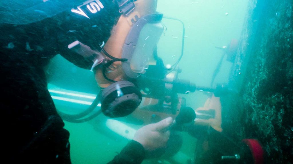 Bridge Underwater Pylon Drilling