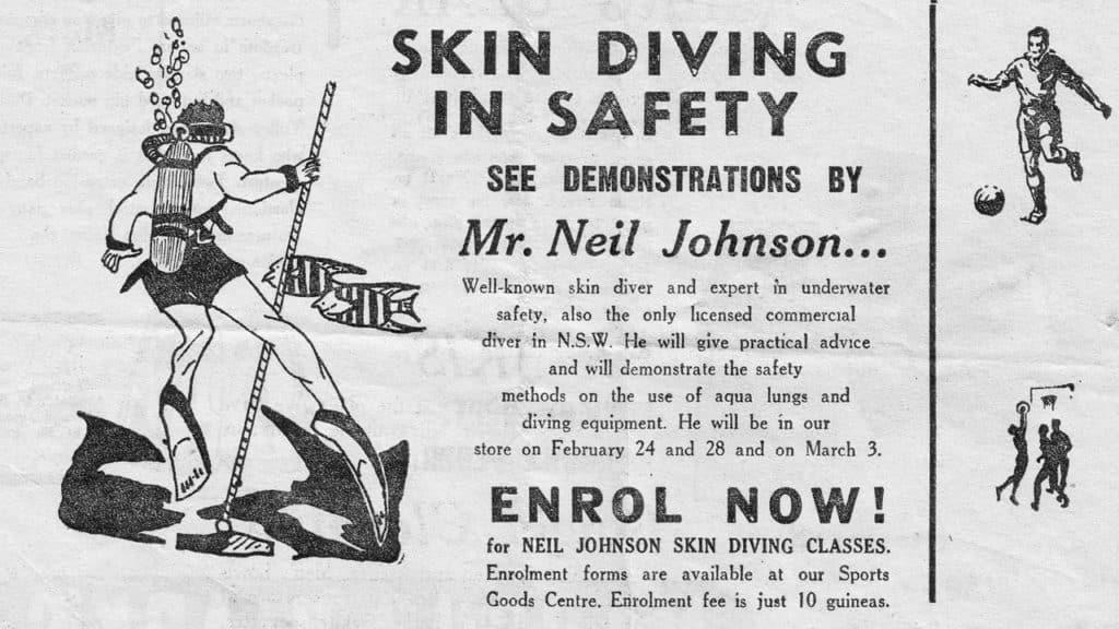 Commercial Diver Neil Johnsons Aqua Lung Demonstration
