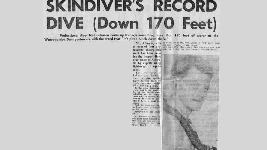 Commercial Diver Neil Johnsons Record Dam Dive