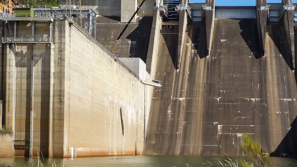 Dam Wall and Boat