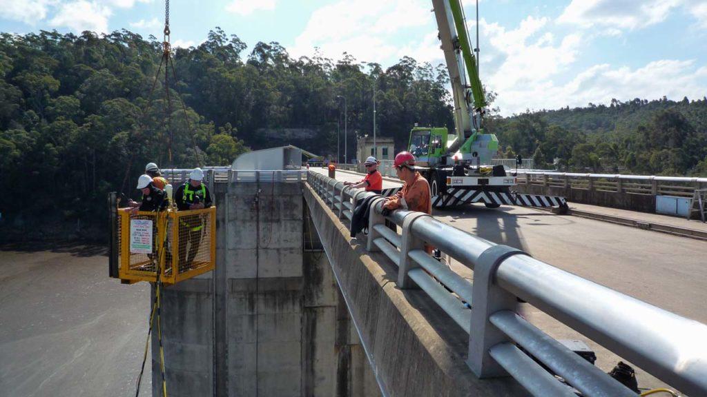 Dam Wall Crew Platform