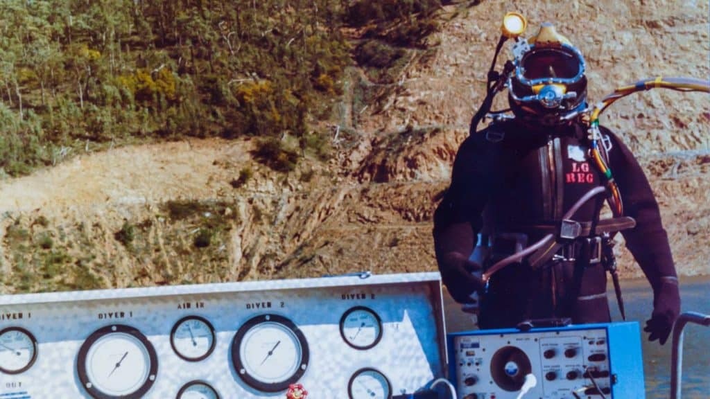 Keith Johnson Dam Diving