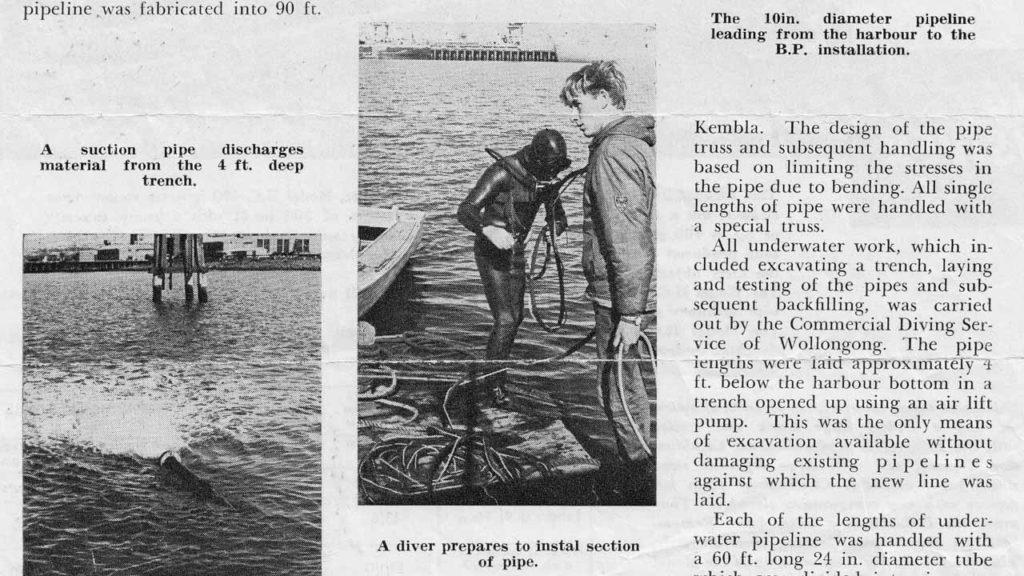 Port Kembla Underwater Pipeline Diver