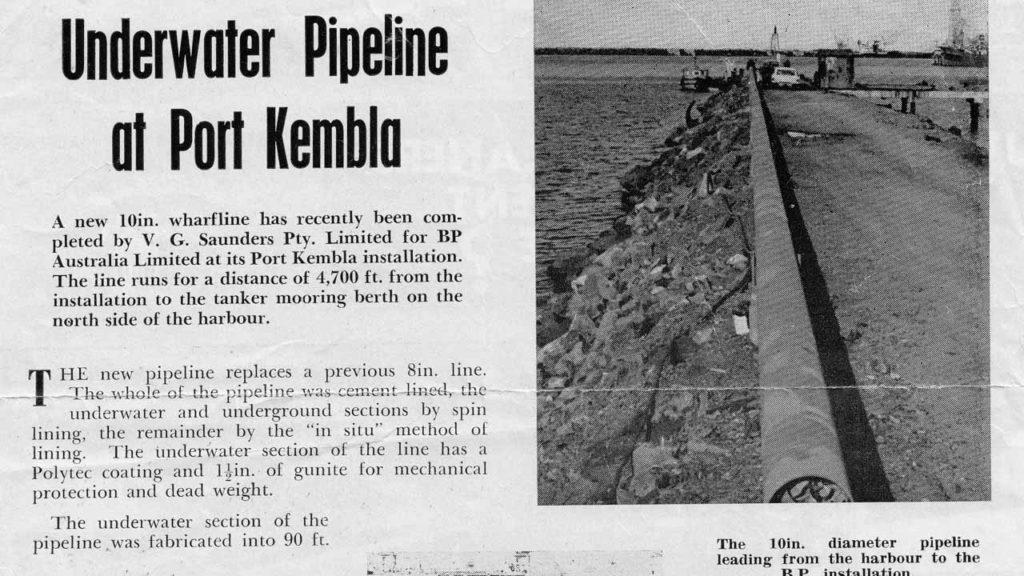 Port Kembla Underwater Pipeline Project