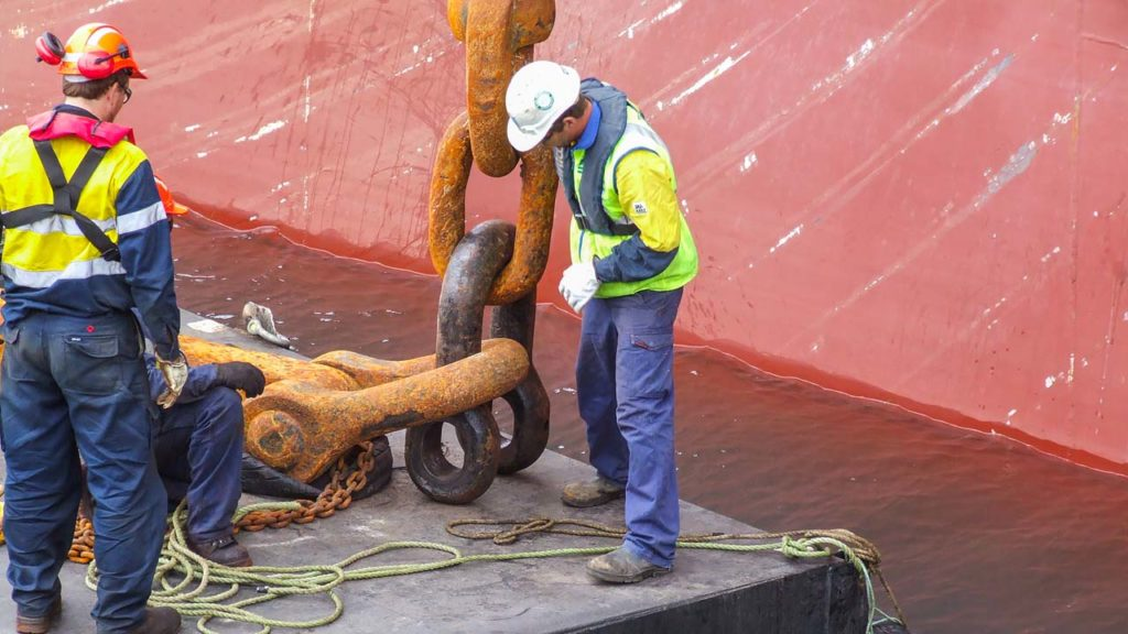Ship Anchor And Chain Attachment
