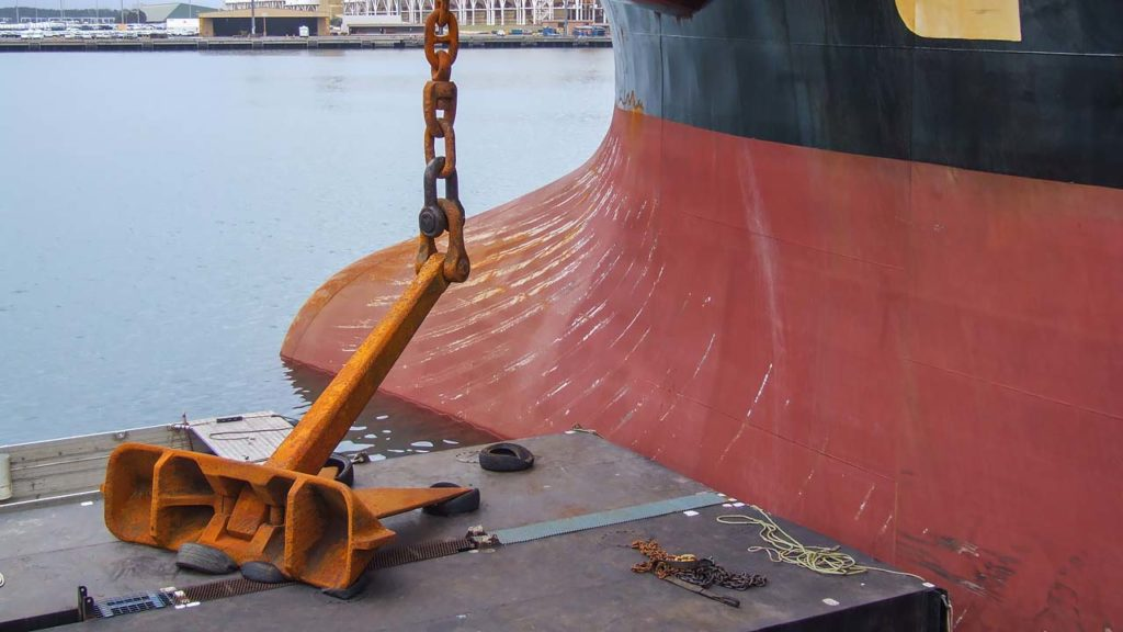 Ship Anchor And Chain Repair Complete