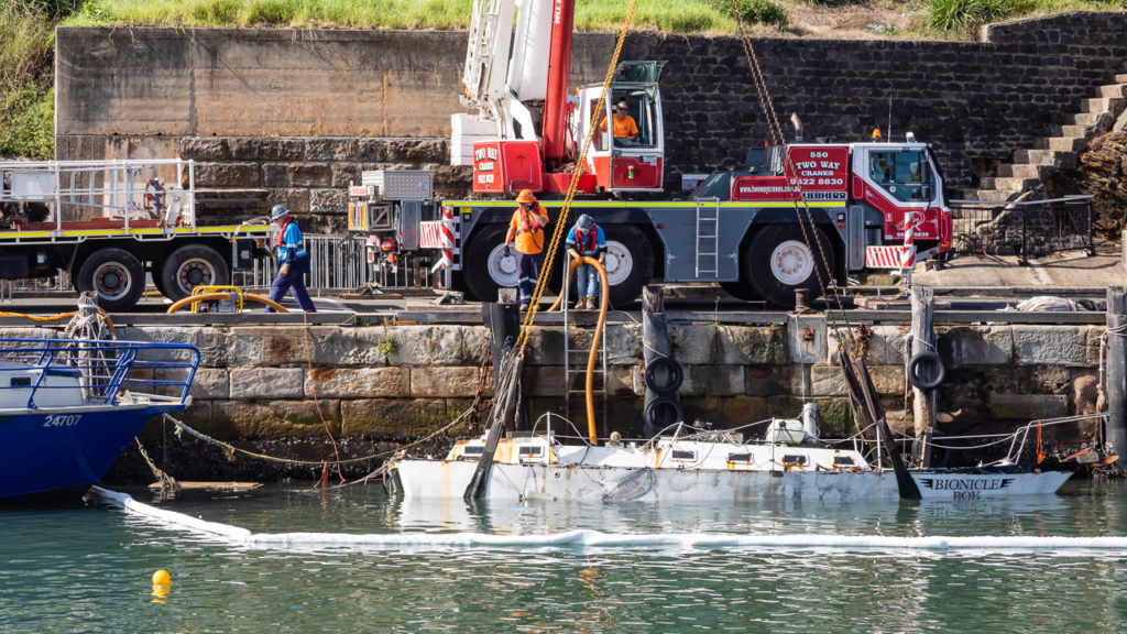 Sunken Yacht Recovery Lift
