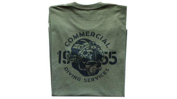Tshirt Helmet Ss Army Back
