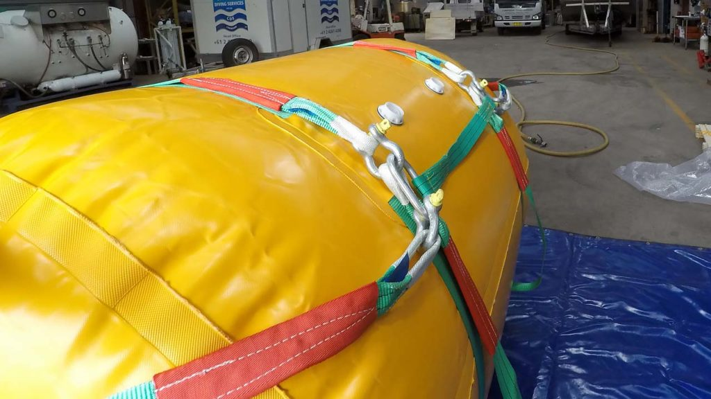 Underwater Air Lift Bag 2ton 2000kg Straps
