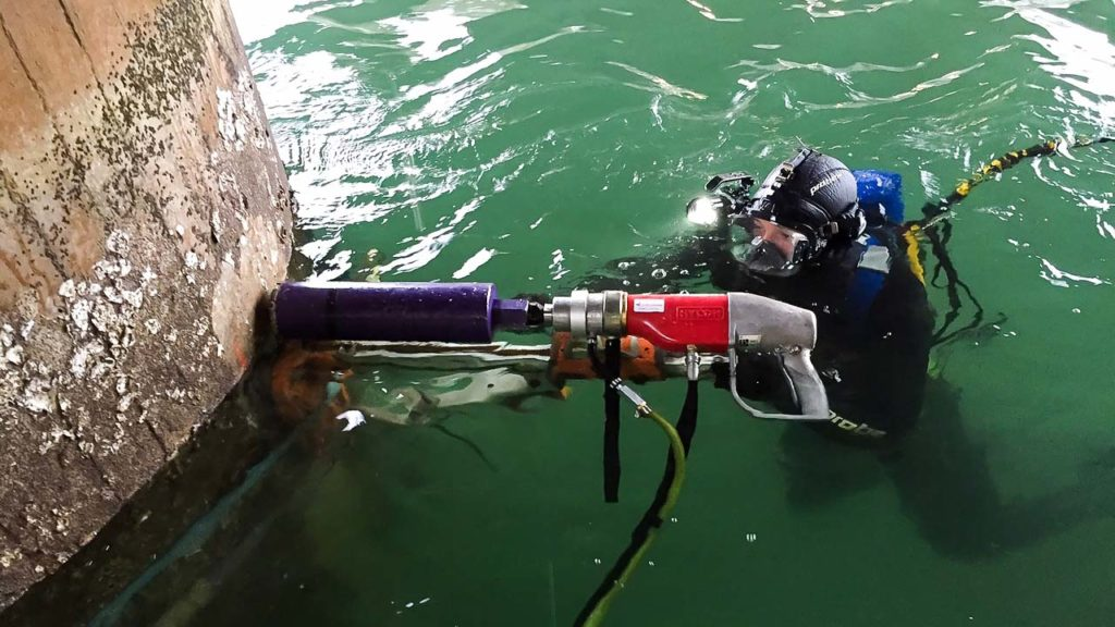 Underwater Core Sampling Drill