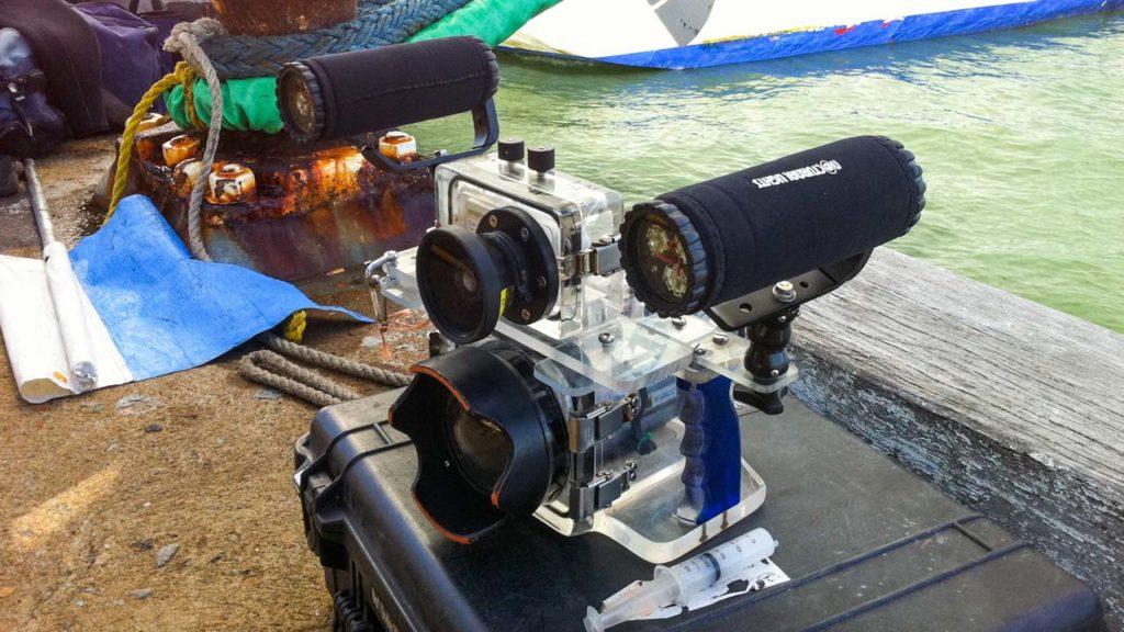 Underwater Dual Media Camera