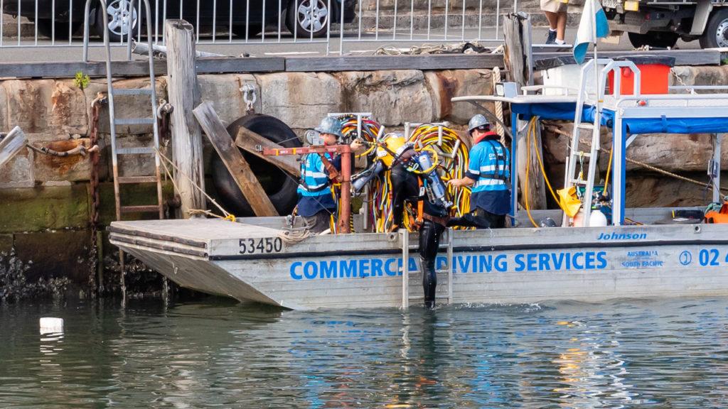 Yacht Salvage Diver Crew